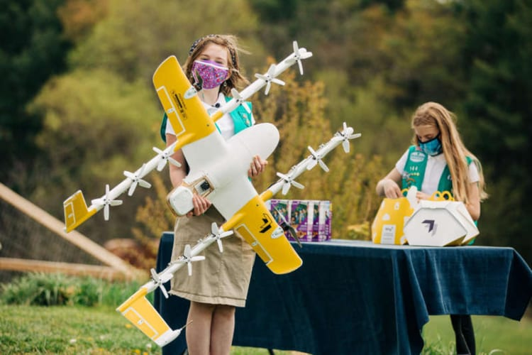 Girl Scout Cookies Drone Delivery