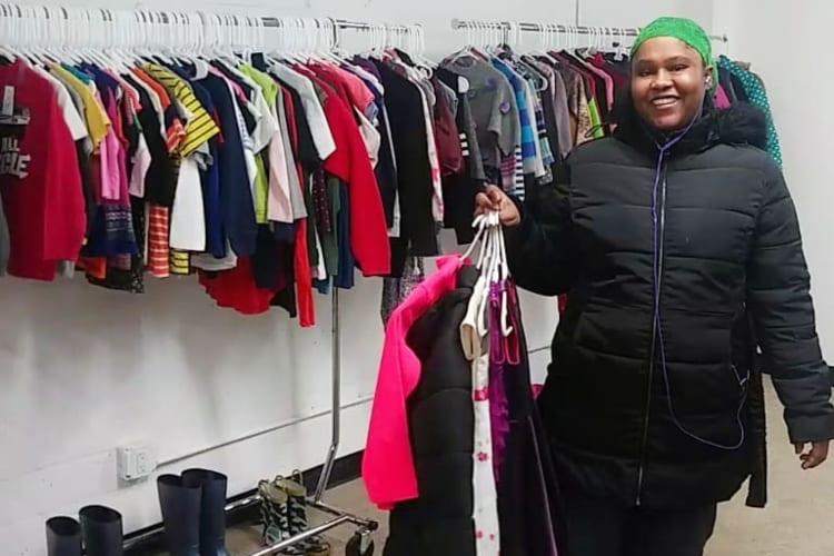 Young Boy Thrift Store Low Income Brooklyn